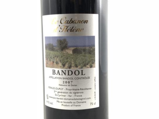 Vin de Bandol Domainede l'Estagnol vin rouge 2007