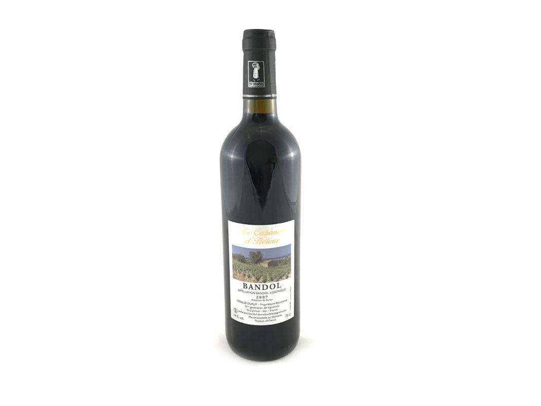 Vin de Bandol rouge 2007 Domaine de l'Estagnol bouteille vin