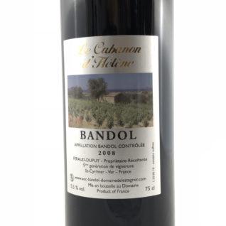 Vin de Bandol rouge 2008 domaine Estagnol Sandrine Féraud