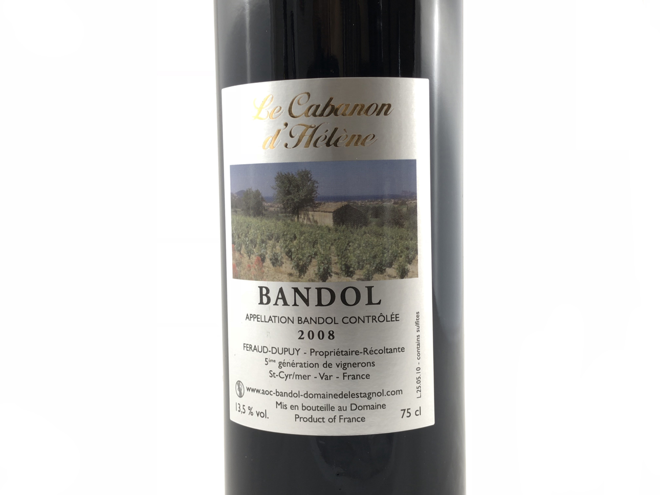 le cabanon d h l ne vin de bandol rouge 2008 domaine de l 39 estagnol sandrine f raud. Black Bedroom Furniture Sets. Home Design Ideas