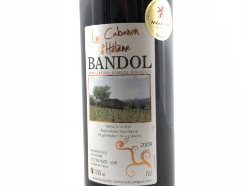Vin de Bandol Rouge 2009 Domaine de l'Estagnol Médaille Bronze Macon
