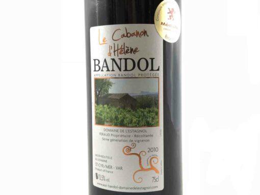 Vin de Bandol Rouge Millésime 2010 Médaille bronze macon Domaine de l'Estagnol Etiquette