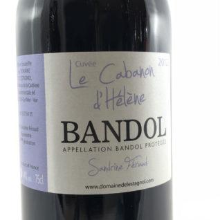 Vin Rouge Domaine de l'Estagnol 2013 vin de Bandol