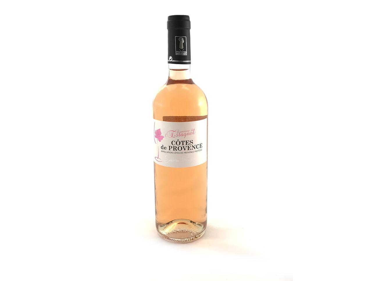 cotes de Provence rosé 2016 Domaine de l'Estagnol bouteille de vin