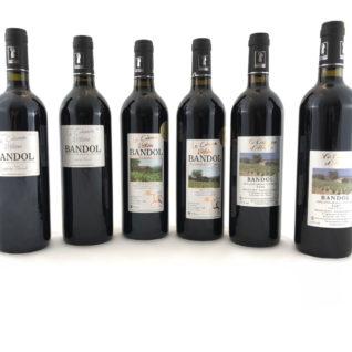 Coffret 6 miillésime vin de bandol domaine de l'estagnol